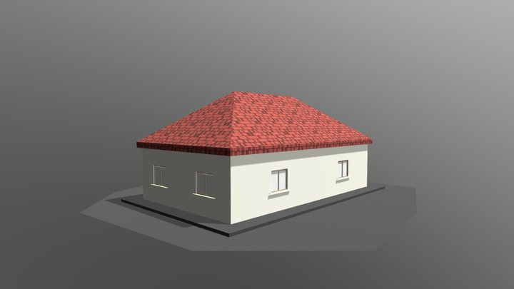 Example of Hungarian building types 3D Model