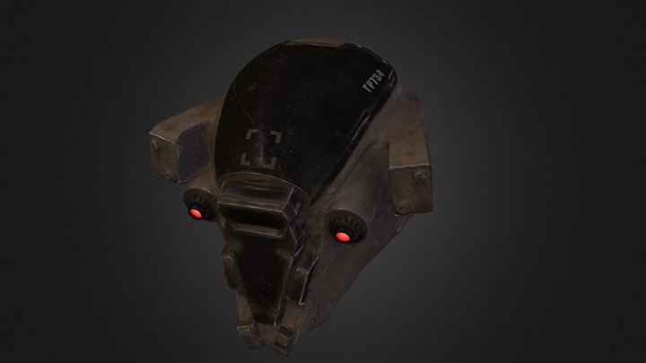Helmetfullposed 3D Model