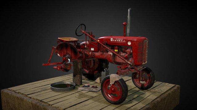 Farmall Super A 3D Model