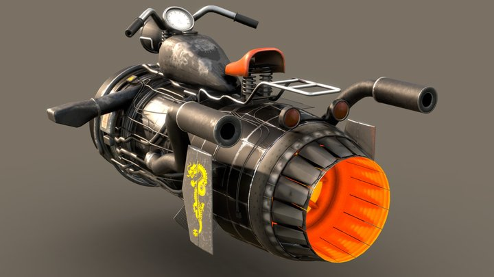 Jetbike -001 3D Model