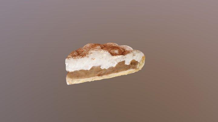 Apple pie with sour cream 3D Model