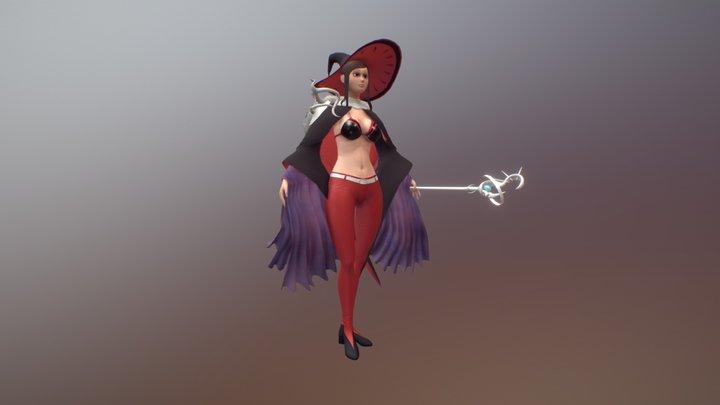 Portfolio II Piece - Magician Character 3D Model