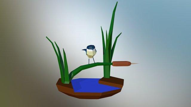 Bird diorama 3D Model