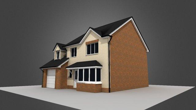 Simple 3D house test WIP. 3D Model