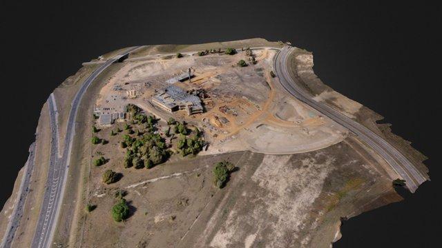 Aerial 3D Scan - Hospital Construction Site 3D Model