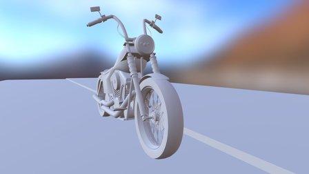 Harley Davidson Bike 3D Model