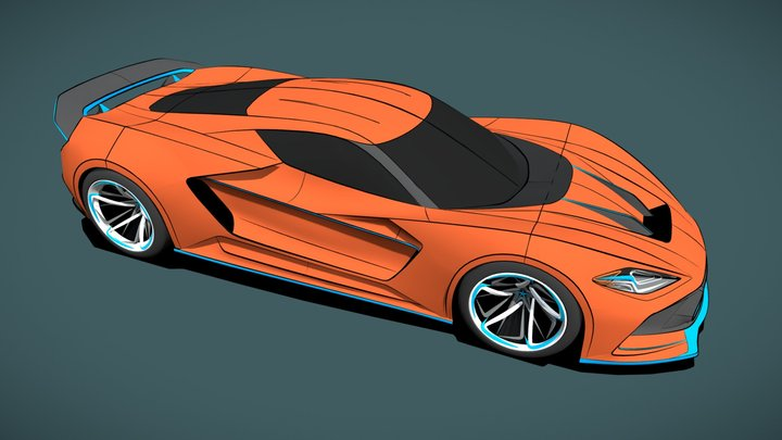 RaceCar 3D Model