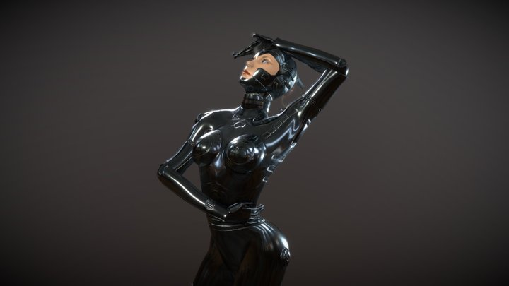 Female Android Robot 3D Model