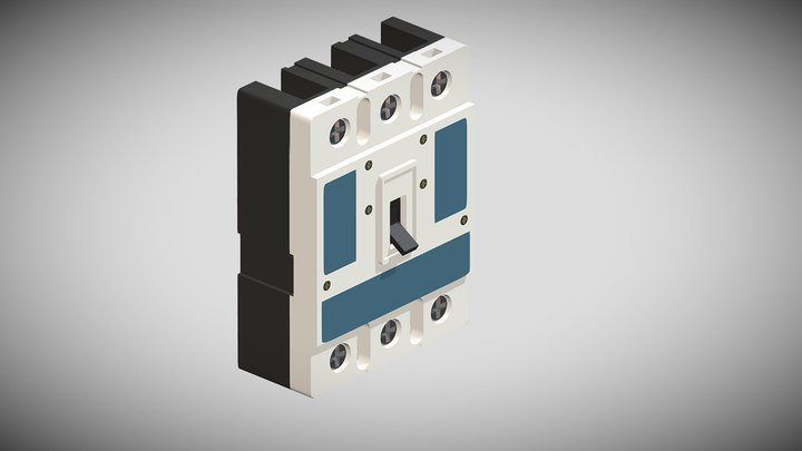 3 Phase Circuit Breaker 3D Model