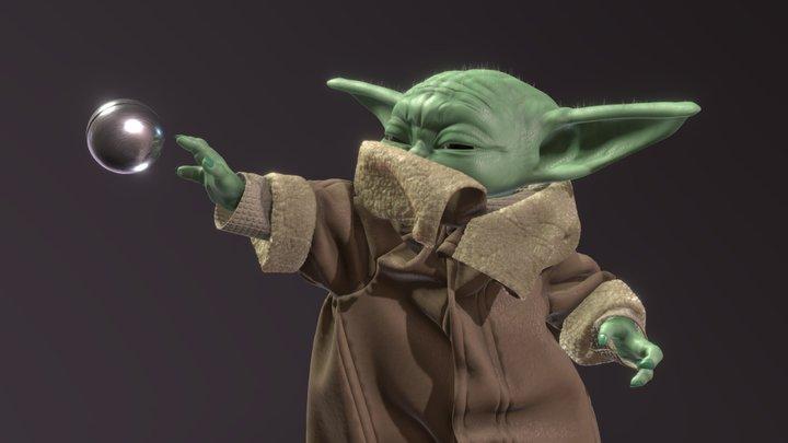 Mandalorian - Grogu ( The force ) 3D Model