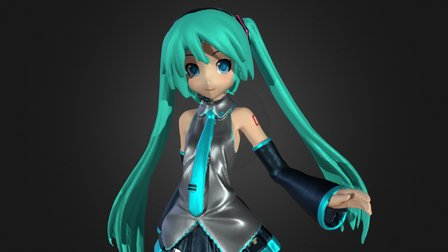 Hatsune Miku 3D Scan 3D Model