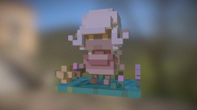 Kid Flowers 3D Model