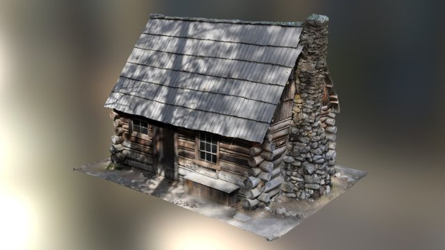 Yosemite Historic Mountaineers Cabin 3D Model