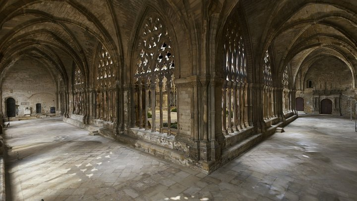 Cloister Cathedral of St. Mary of La Seu Vella 3D Model