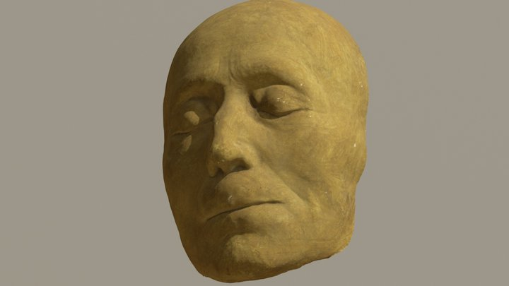 Death Mask of Carl Michael Bellman (1740-1795) 3D Model