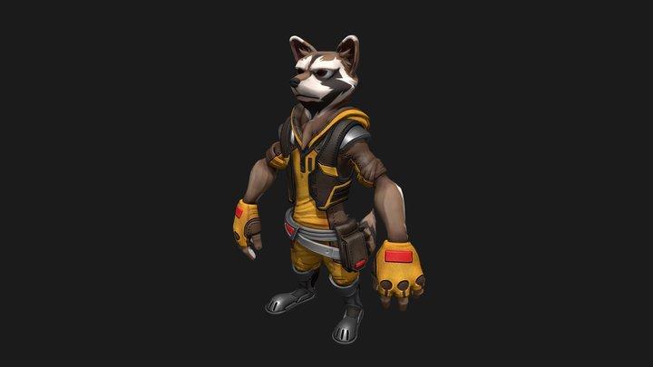 Rocket Character 3D Model