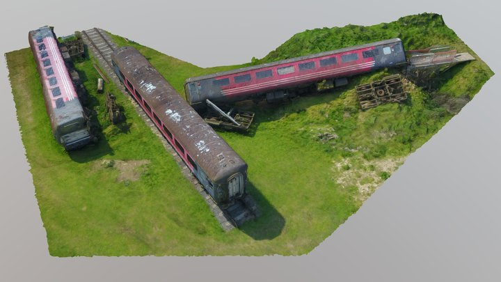 Train Disaster Training Facility (low-res raw) 3D Model