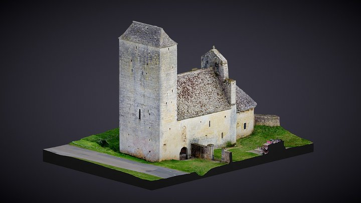 AIGUEPARSE | ÉGLISE 3D Model