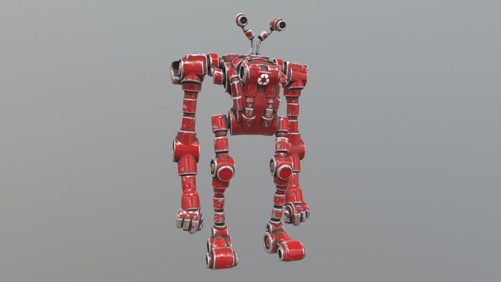 Recycle Bot - Red Sector 3D Model