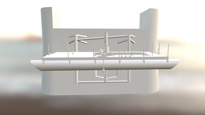 Turbine Deployment Platform 3D Model