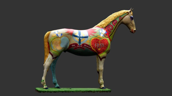 Hunt Museum - Horse Outside 3D Model