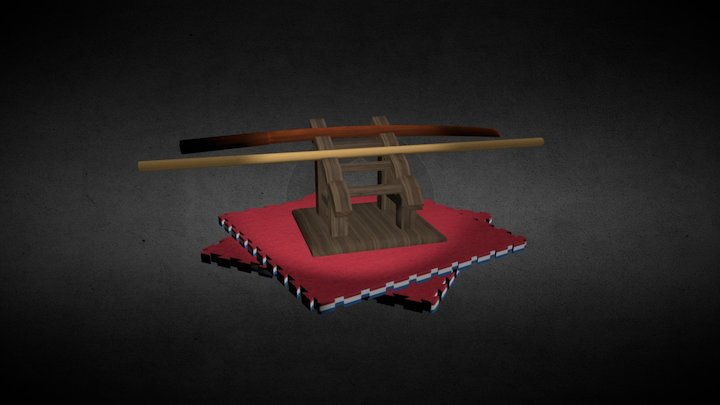 Aikido weapons 3D Model