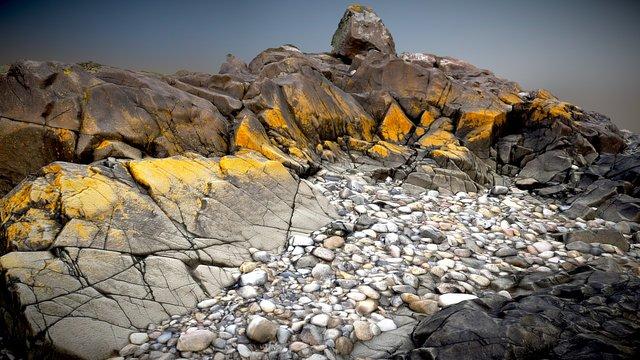 Holy Island - Rocks 3D Model
