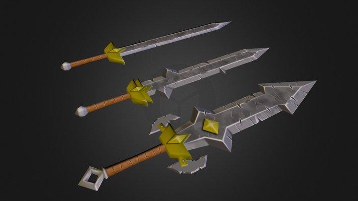 Low Poly Sword Pack 3D Model