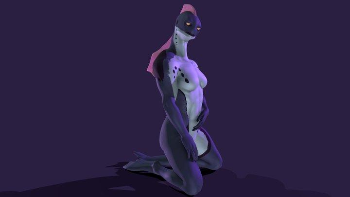 Shenza (sitting) 3D Model