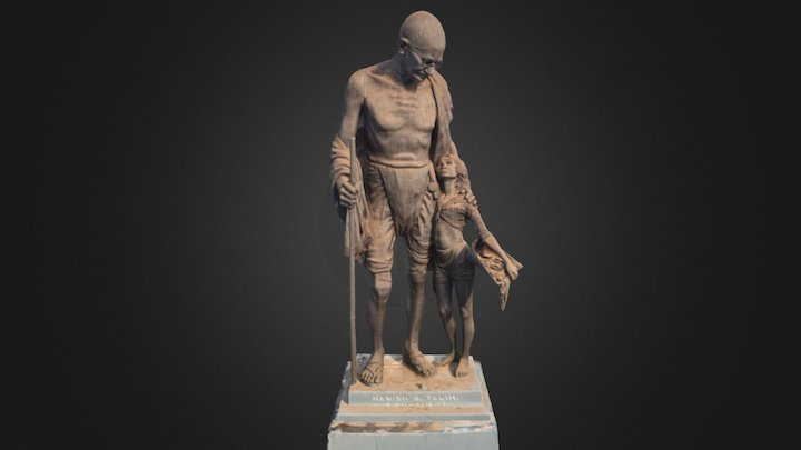 Gandhi Monument, Old Goa, by Pixelated Realities 3D Model