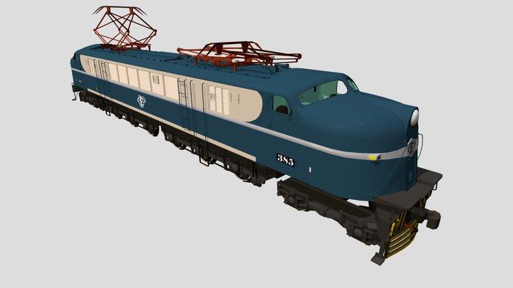 GE V8 3D Model