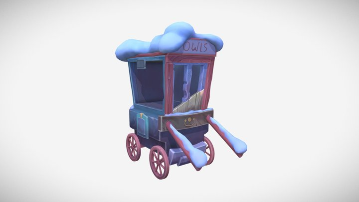 Hogsmid Cart 3D Model