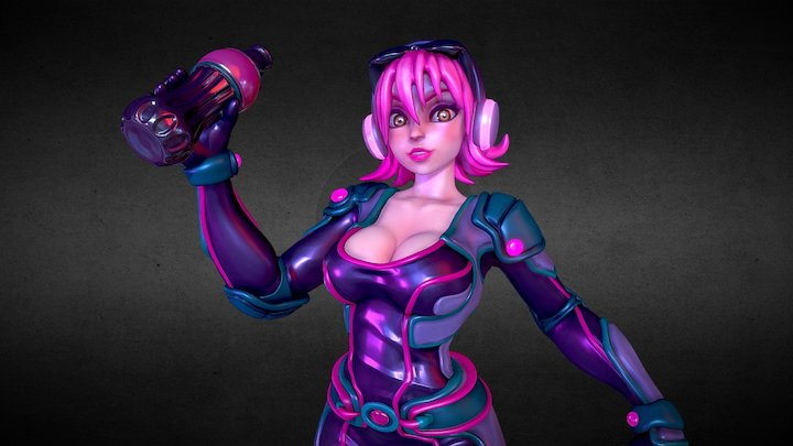 Agent Candy 3D Model