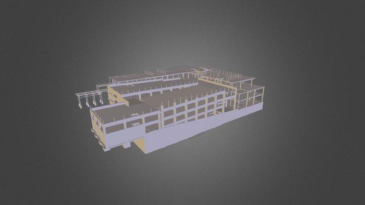 Sharp Parking Structure & Building 3D Model