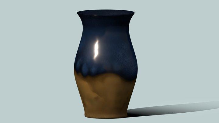 Lowpoly Vase 3D Model