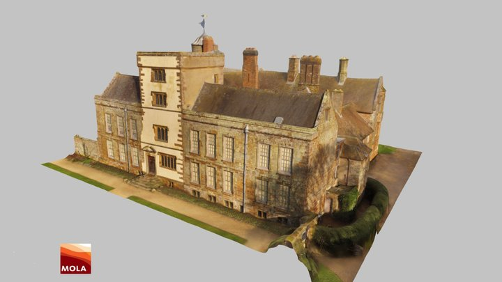 Canons Ashby House 3D Model