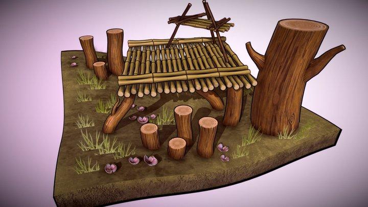 DGM2210 | Cartoon Panda Environment 3D Model