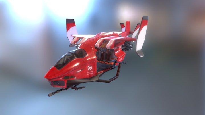 Urban Assault copter 3D Model
