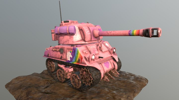 Chubby Unicorn Tank - GAME READY 3D Model