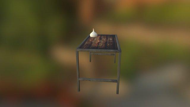 Elixir auf Tisch 3D Model