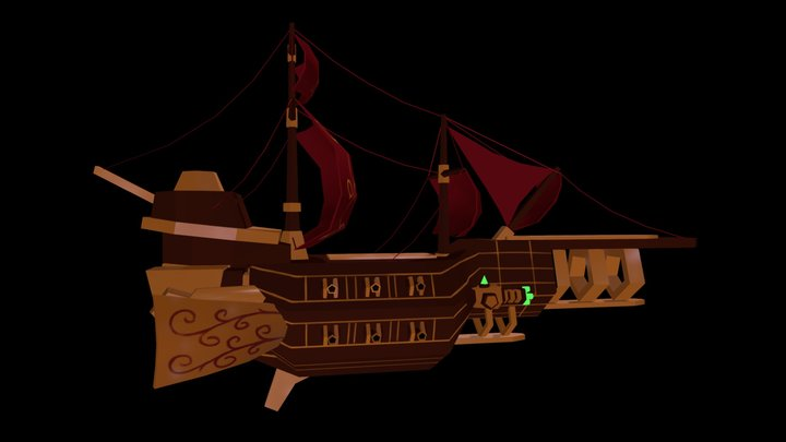 Space Pirate Ship 3D Model