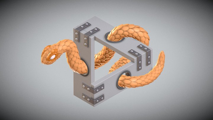 Impossible Penrose Snake 3D Model