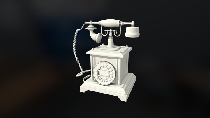 Old Telephone (High Poly) 3D Model
