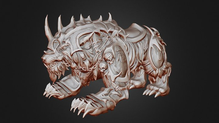 Warbeast High Poly 3D Model