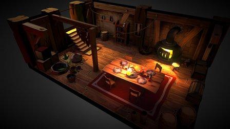 Interior Tavern 3D Model