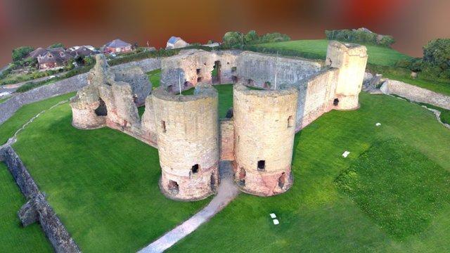 Rhuddlan Castle 3D Model