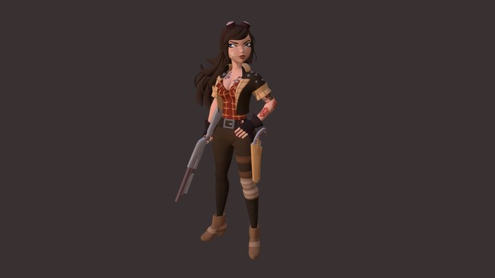 Bad Warrior 3D Model