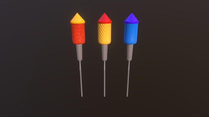 Fancy Rockets 3D Model