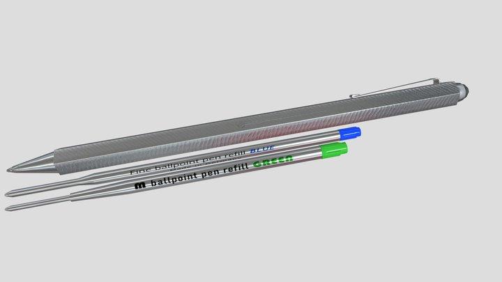 Steel ballpointpen 3D Model