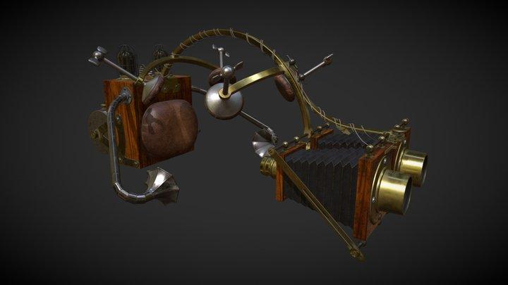Antique Telegraphic Realiscope 3D Model